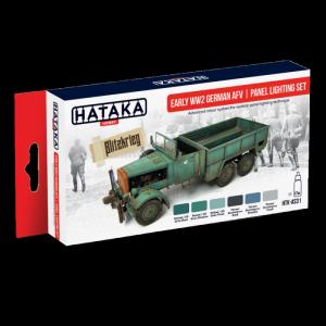 Hataka AS31 zestaw niemieckie pojazdy WWII AFV farby akrylowe