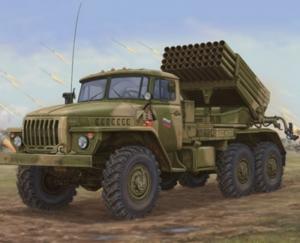 Ciężarówka z wyrzutnią rakiet BM-21 Grad Trumpeter 01014