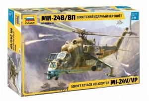 Zvezda 4823 Wojskowy śmigłowiec MI-24V-VP skala 1-48