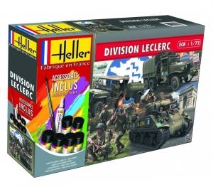 Zestaw modelarski z farbami Dywizjon Leclerc Heller 53015