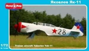 Model szkoleniowego samolotu Yakovlev Yak-11 Mikromir 72-005