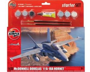 Airfix A55313 Zestaw startowy F/A-18A Hornet z farbami