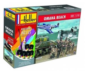 Zestaw modelarski Omaha Beach Heller 53012