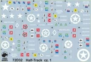 72D32 Half Track w polskiej służbie cz.1 - kalkomania w skali 1-72