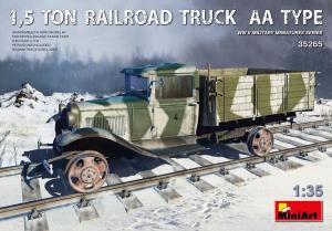 Model MiniArt 35265 1,5 tonowa ciężarówka na szynach