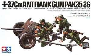 Tamiya 35035 German 37mm Anti-Tank Gun PAK 35/36