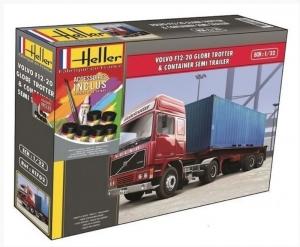 Heller 57702 Ciężarówka Volvo F12-20 Globetrotter z farbami i klejem