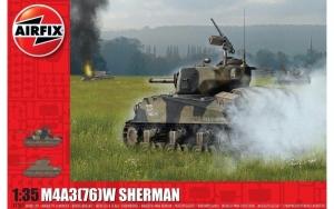 Airfix A1365 Czołg M4A3(76)W Sherman model 1-35