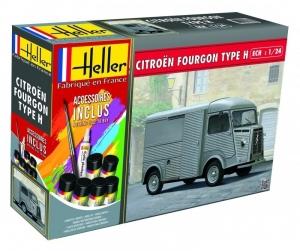 Heller 56768 Samochód Citroen Fougron Type H z farbami i klejem