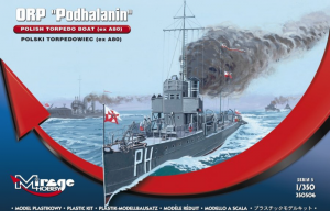 Okręt ORP Podhalanin torpedowiec skala 1-350 nr 350506