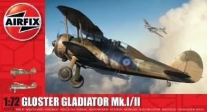 Model samolotu Gloster Gladiator Mk.I/II Airfix A02052A