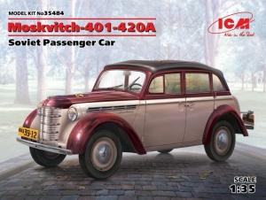ICM 35484 Samochód Moskwicz 401-420A model 1-35