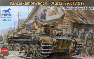 Bronco CB35143 Czołg Panzerkampfwagen I Ausf.F VK18.01