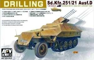 AFV 35082 Transporter Sd.Kfz.251/21 ausf.D Drilling