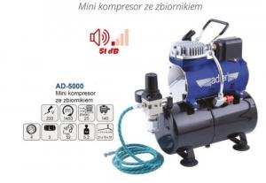 Adler AD-5000 Mini kompresor modelarski ze zbiornikiem