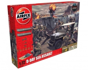 Airfix A050156A D-Day Sea Assault zestaw z farbami 1-72