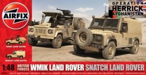 Airfix A06301 Dwa modele Land Rover WMIK i Snatch