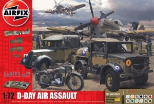Airfix A50157A D-Day Air Assault zestaw z farbami 1-72