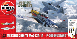 Airfix A50183 Zestaw z farbami Messerschmitt Me262A-1A i P-51D Mustang
