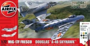 Airfix A50185 Zestaw z farbami Mig-17F Fresco i Douglas A-4B