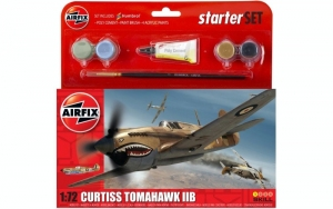 Airfix A55101 Zestaw z farbami Curtiss Tomahawk IIB