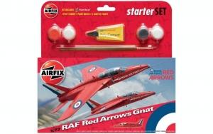 Airfix A55105 Samolot RAF Red Arrows Gnat z farbami i klejem