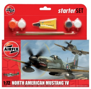 Airfix A55107 Zestaw z farbami North American Mustang IV