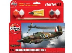 Airfix A55111 Zestaw startowy Hawker Hurricane Mk.I z farbami