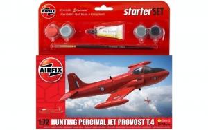 Airfix A55116 Samolot Hunting Percival Jet Provost T.4 z farbami i klejem