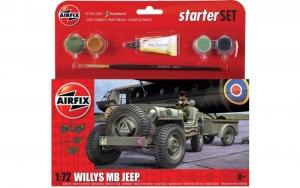 Airfix A55117 Zestaw z farbami Willys MB Jeep