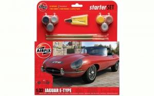 Airfix A55200 Zestaw z farbami Jaguar E-Type