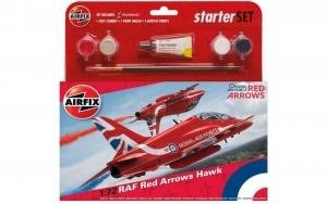 Airfix A55202C Samolot RAF Red Arrows Hawk z farbami i klejem