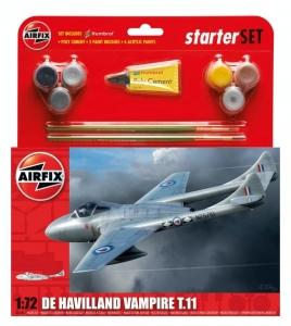 Airfix A55204 Zestaw z farbami De Havilland Vampire T.11
