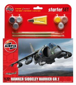 Airfix A55205 Zestaw z farbami Hawker Siddeley Harrier GR.1