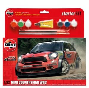 Airfix A55304 Samochód Mini Countryman WRC z farbami i klejem