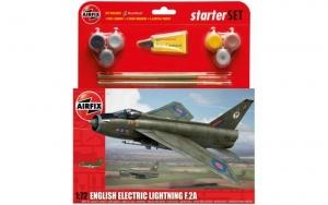 Airfix A55305 Zestaw startowy Electric Lightning F.2A z farbami