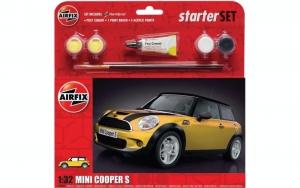 Airfix A55310 Zestaw z farbami Mini Cooper S