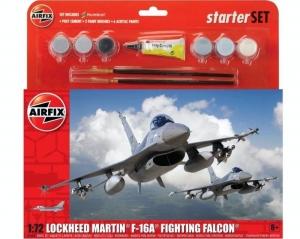 Airfix A55312 Zestaw startowy F-16A Fighting Falcon z farbami