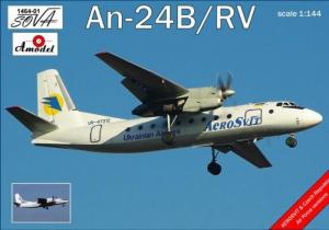 Amodel 1464-01 Samolot Antonov An-24B/RV model 1-144
