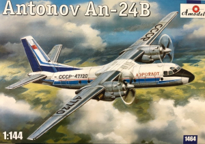 Amodel 1464 Samolot Antonov An-24B model 1-144