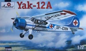 Amodel 72188 Samolot Jak-12A skala 1-72