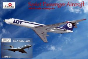 Amodel 72249-01 Tu-134A Late LOT i Aeroflot model 1-72