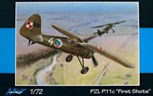 Azur A112 Samolot PZL P.11C First Shots model 1-72