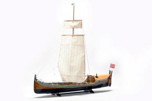 BB416 Łódź rybacka Nordlands Baaden model drewniany 1-20