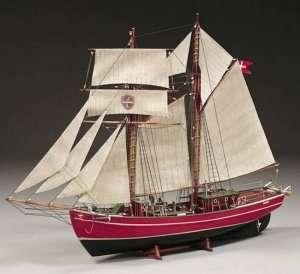 BB578 Lilla Dan - drewniany model żaglowca
