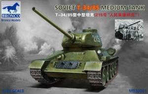 Bronco MB32001 Czołg T-34/85 skala 1-32
