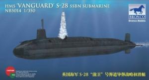 Bronco NB5014 Okręt podwodny HMS Vanguard S-28 SSBN