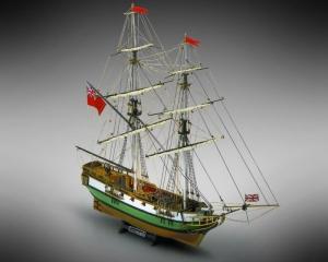 Bryg Portsmouth Mamoli MV45 drewniany model okrętu w skali 1-64