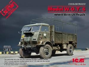 Brytyjska ciężarówka wojskowa W.O.T.6 ICM 35507