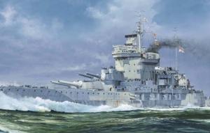 Brytyjski pancernik HMS Warspite 1942 Trumpeter 05795